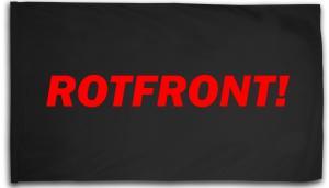 Fahne / Flagge (ca. 150x100cm): Rotfront!