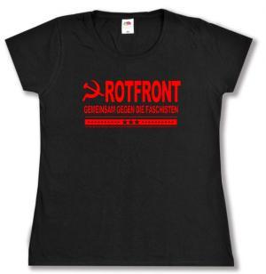 tailliertes T-Shirt: Rotfront - Gemeinsam gegen die Faschisten