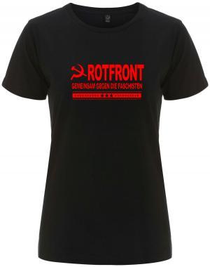 tailliertes Fairtrade T-Shirt: Rotfront - Gemeinsam gegen die Faschisten