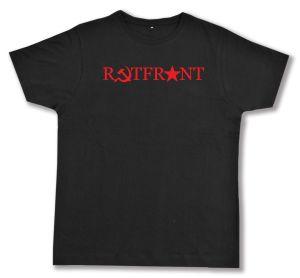 Fairtrade T-Shirt: Rotfront! (Hammer und Sichel und Stern)