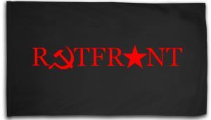Fahne / Flagge (ca. 150x100cm): Rotfront! (Hammer und Sichel und Stern)