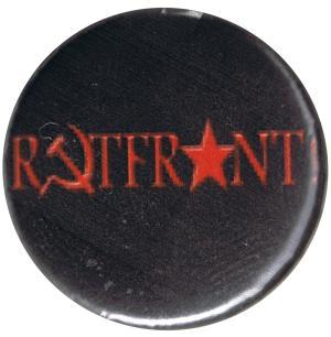25mm Magnet-Button: Rotfront! (schwarz)