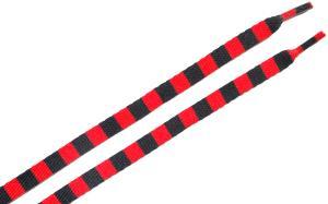 Schnürsenkel: Rot/schwarz quergestreifte Schnürsenkel