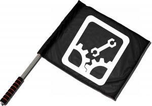 Fahne / Flagge (ca. 40x35cm): Sabotage