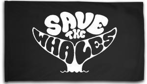 Fahne / Flagge (ca. 150x100cm): Save the Whales