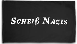 Fahne / Flagge (ca. 150x100cm): Scheiß Nazis