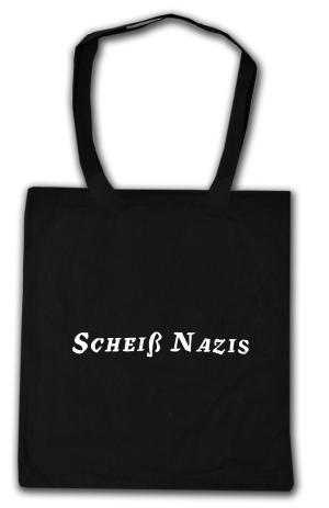 Baumwoll-Tragetasche: Scheiß Nazis