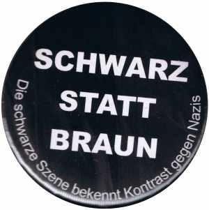 25mm Button: Schwarz statt Braun