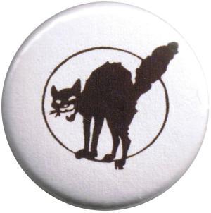 37mm Magnet-Button: Schwarze Katze