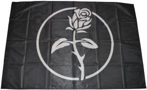 Fahne / Flagge (ca. 150x100cm): Schwarze Rose