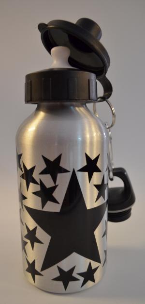 Trinkflasche: Schwarze Sterne