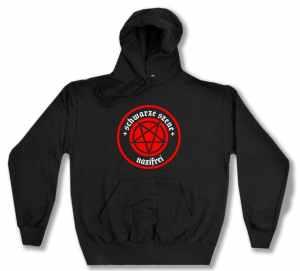 Kapuzen-Pullover: Schwarze Szene Nazifrei - Rotes Pentagramm
