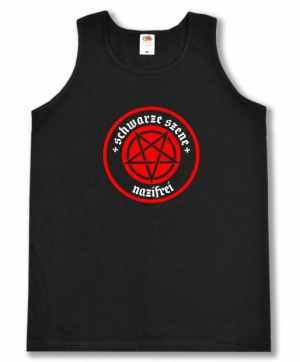 Tanktop: Schwarze Szene Nazifrei - Rotes Pentagramm