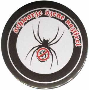 25mm Magnet-Button: Schwarze Szene Nazifrei - Spinne