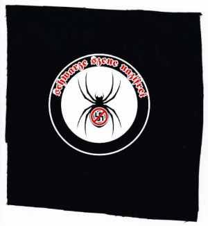 Aufnäher: Schwarze Szene Nazifrei - Spinne