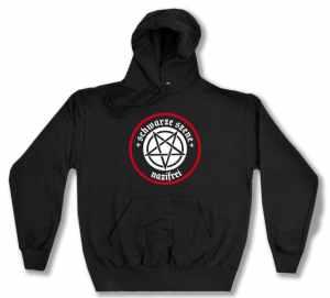 Kapuzen-Pullover: Schwarze Szene Nazifrei - Weißes Pentagramm