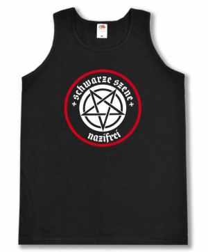 Tanktop: Schwarze Szene Nazifrei - Weißes Pentagramm