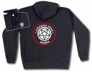 Kapuzen-Jacke: Schwarze Szene Nazifrei - Weißes Pentagramm
