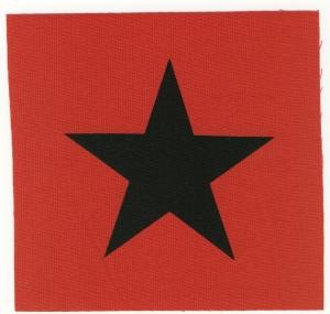 Aufnäher: Schwarzer Stern