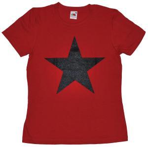 tailliertes T-Shirt: Schwarzer Stern