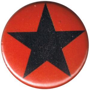 25mm Magnet-Button: Schwarzer Stern
