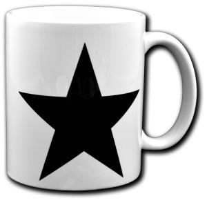 Tasse: Schwarzer Stern
