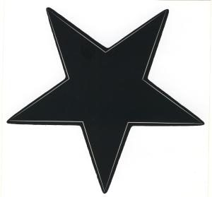 Aufkleber: Schwarzer Stern