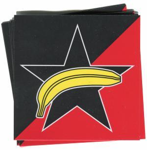 Aufkleber-Paket: Schwarzer Stern + Banane