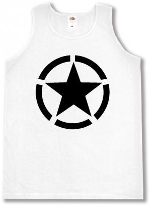 Tanktop: Schwarzer Stern im Kreis (Black Star)