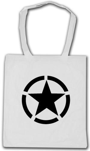 Baumwoll-Tragetasche: Schwarzer Stern im Kreis (Black Star)