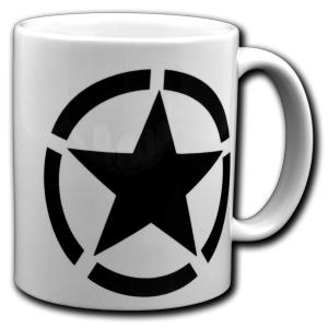 Tasse: Schwarzer Stern im Kreis (Black Star)