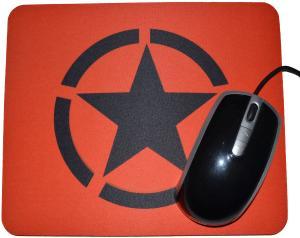 Mousepad: Schwarzer Stern im Kreis (Black Star)