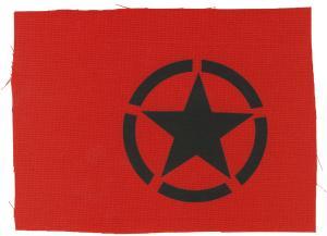 Aufnäher: Schwarzer Stern im Kreis (Black Star)