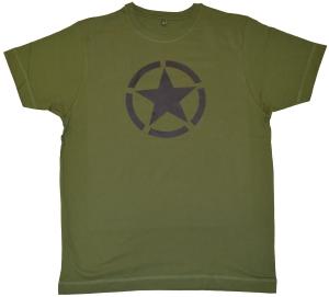 Fairtrade T-Shirt: Schwarzer Stern im Kreis (Black Star)