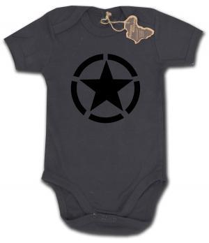 Babybody: Schwarzer Stern im Kreis (Black Star)