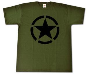 T-Shirt: Schwarzer Stern im Kreis (Black Star)
