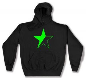 Kapuzen-Pullover: Schwarz/grüner Stern