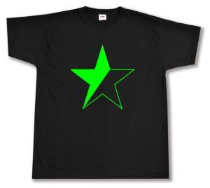 T-Shirt: Schwarz/grüner Stern