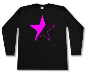 Longsleeve: schwarz/pinker Stern