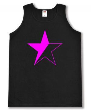 Tanktop: schwarz/pinker Stern