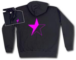 Kapuzen-Jacke: schwarz/pinker Stern