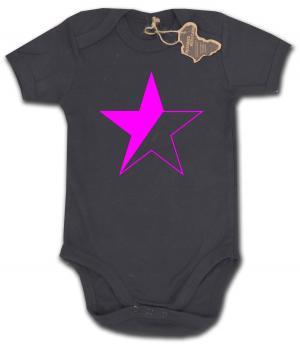 Babybody: schwarz/pinker Stern