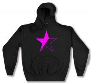Kapuzen-Pullover: schwarz/pinker Stern