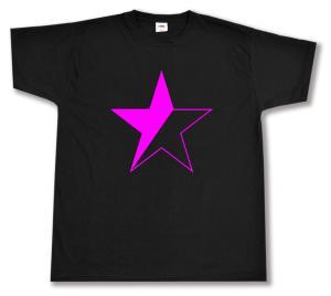 T-Shirt: schwarz/pinker Stern