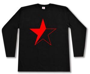 Longsleeve: Schwarz/roter Stern