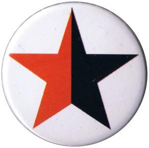 37mm Button: schwarz/roter Stern