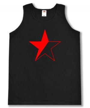 Tanktop: Schwarz/roter Stern