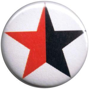 50mm Button: schwarz/roter Stern