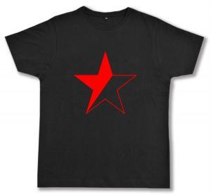 Fairtrade T-Shirt: Schwarz/roter Stern