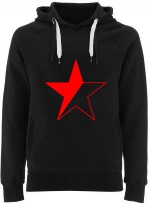 Fairtrade Pullover: Schwarz/roter Stern